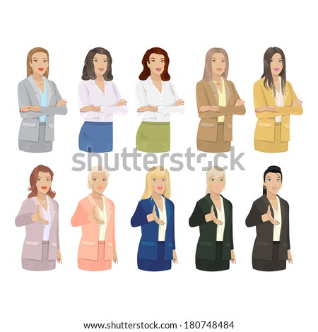 business women   isolated on