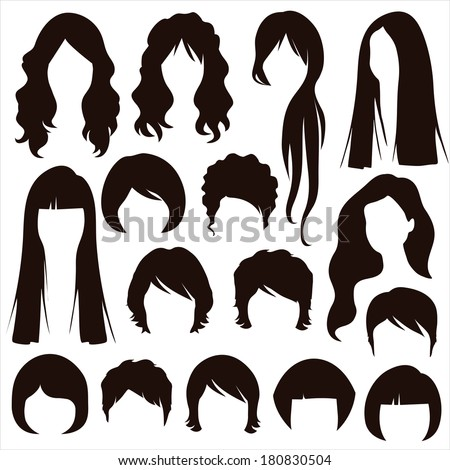 styles hair silhouettes  woman