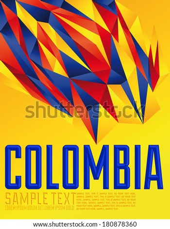 colombia   vector geometric