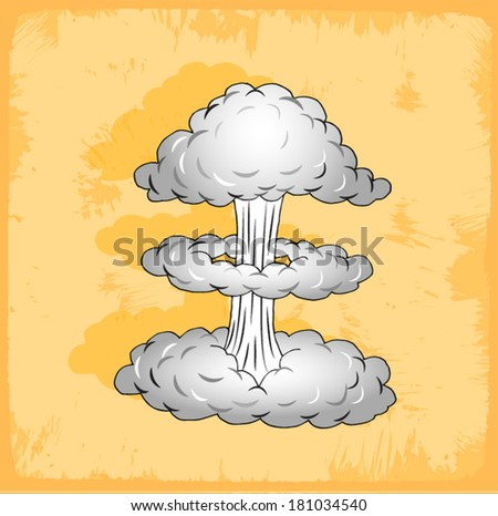 illustration of a nuclear bomb