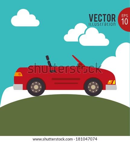 car design over sky background
