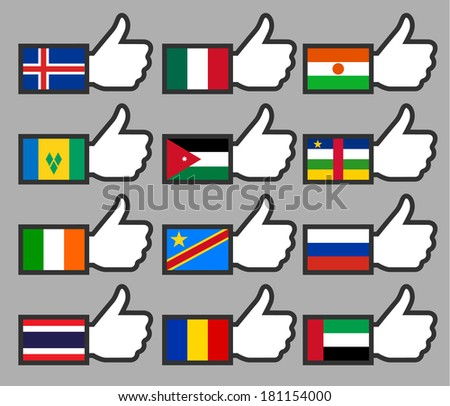flags in the thumbs up 08