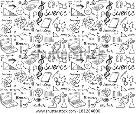 science doodle seamless