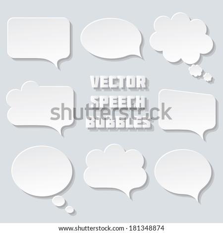 blank empty white speech