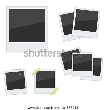 set polaroid photo frames on