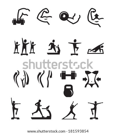 sport icons vector format