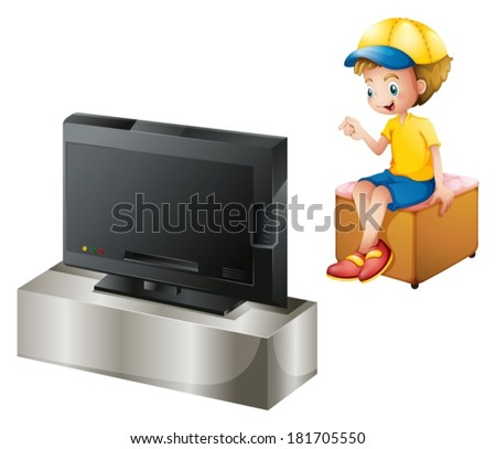 illustration of a boy watching