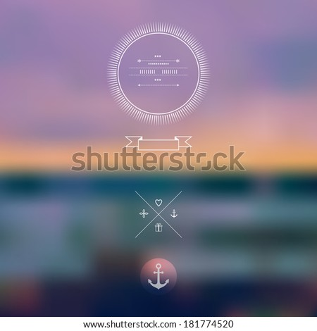 vector ocean  blurred landscape
