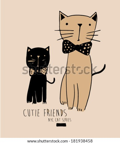 cute cat illustration 2