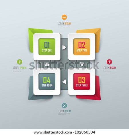 vector template for infographic