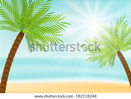 summer vacation background with