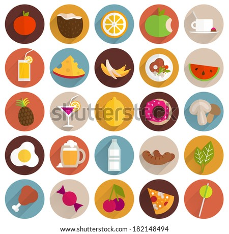 food and drinks flat design