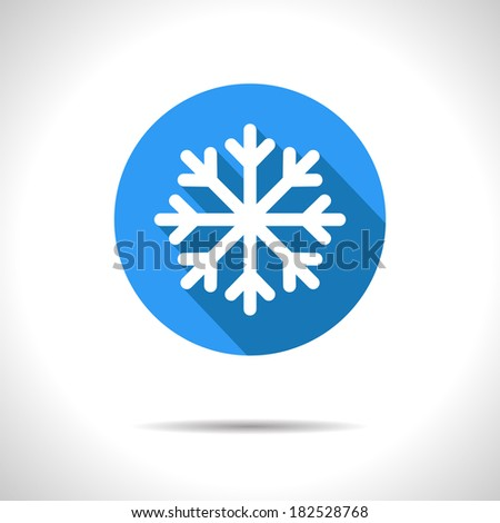 vector snowflake icon eps10
