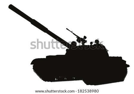 tank detailed silhouette