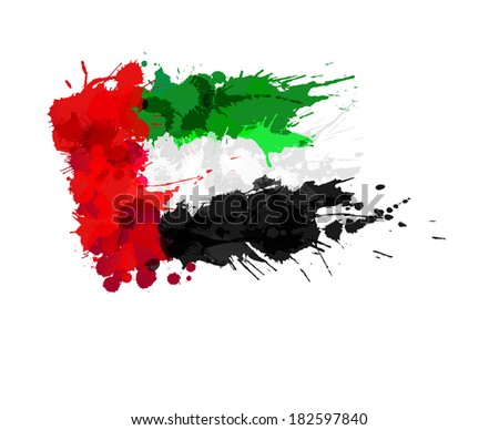 united arab emirates flag made
