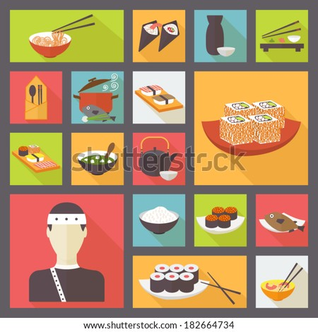 japanese cuisine  food icons