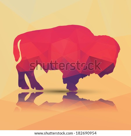 geometric polygonal buffalo