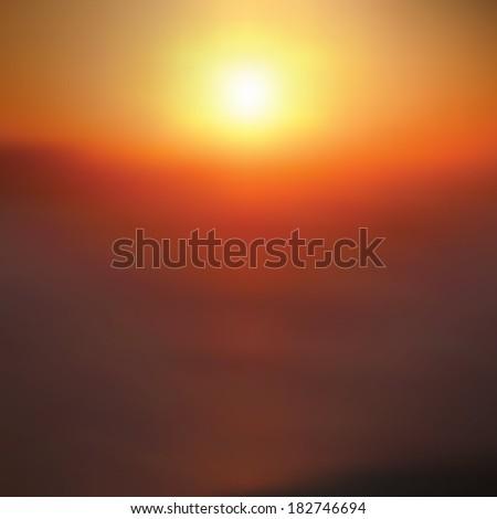 summer sunset background sun