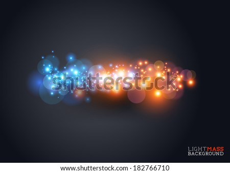 light mass abstract background