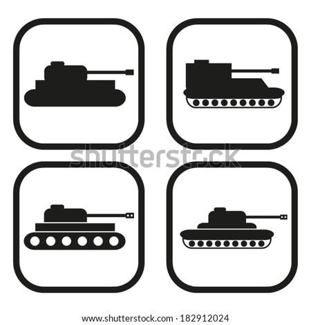 tank icon   four variations