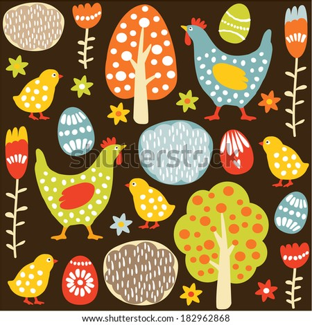 cute colorful seamless easter