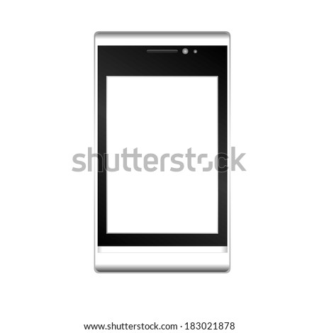 vector illustration of a mobile