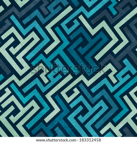 blue labyrinth seamless texture