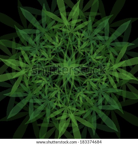 marijuana leaves mandala vector