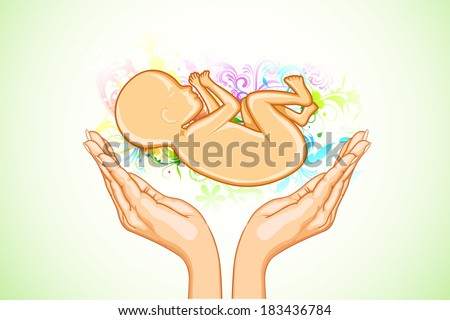 illustration of hand holding