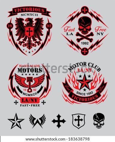 motor club emblem set
