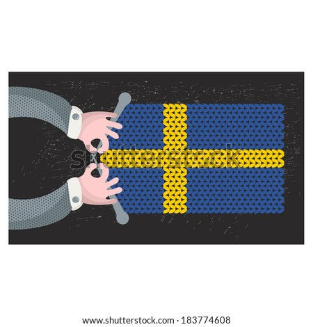 hand made flag of sweden