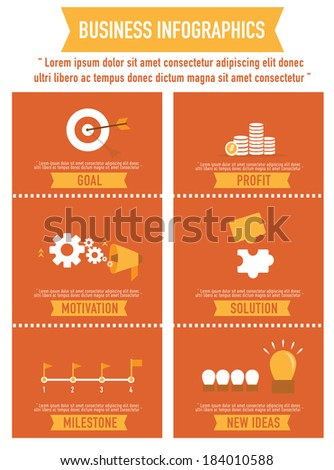 business infographics flat