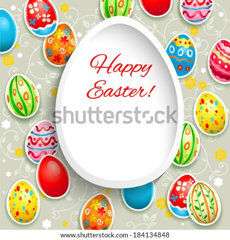 happy easter frame with