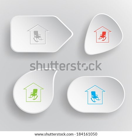 home comfort white flat vector