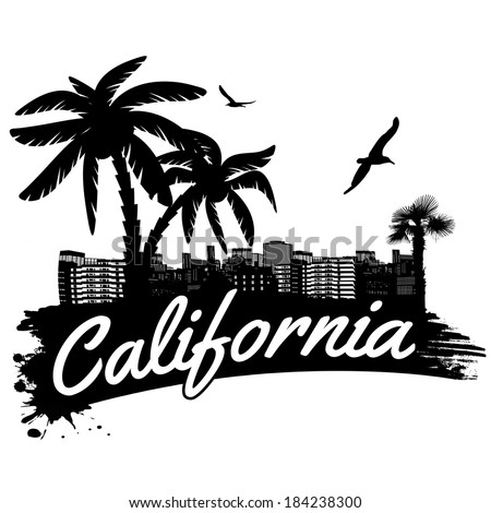 california in vintage style
