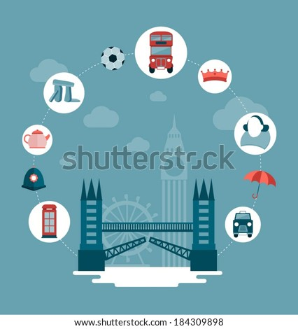 vector london and uk concept