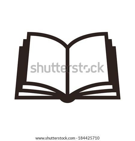 book icon isolated on white