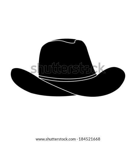 black cowboy hat   vector icon