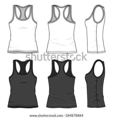 blank women's tank top in front