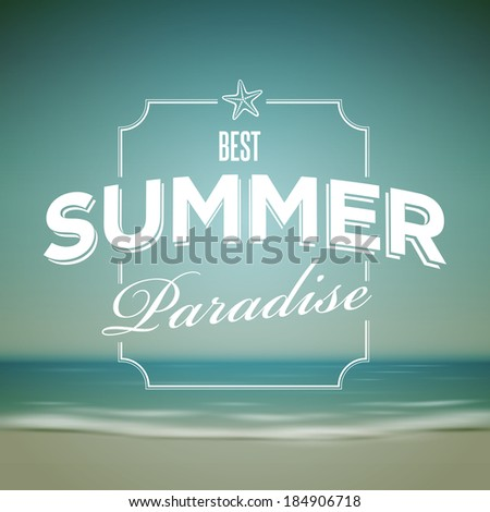 vector summer design template