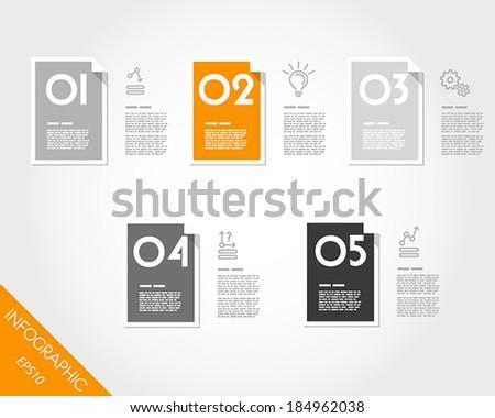orange flat infographic