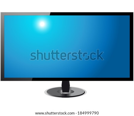tv screen hd  isolated on white
