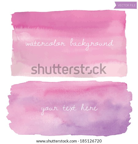 wet wash watercolor vector