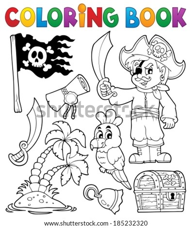 coloring book pirate thematics