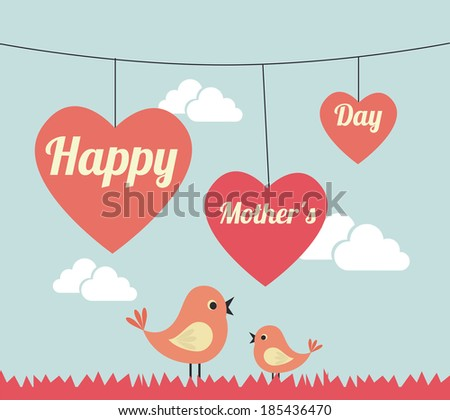 mothers day design over