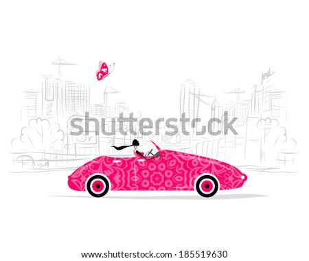 woman driving car for your