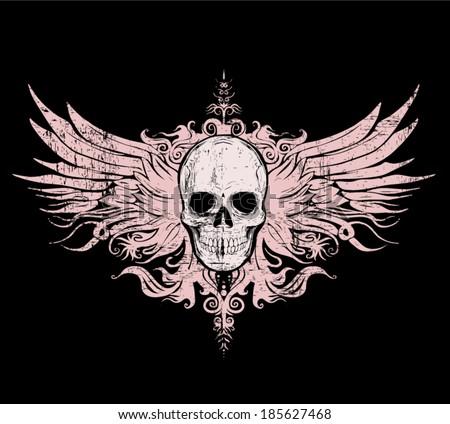 skull vector   t shirt graphics