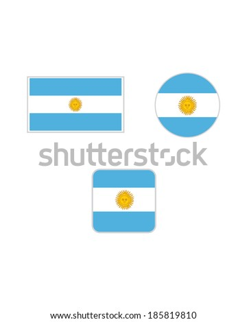 vector argentina flag and icon