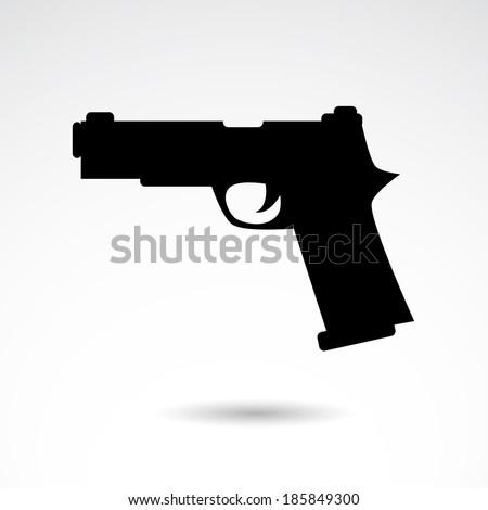 gun icon isolated on white