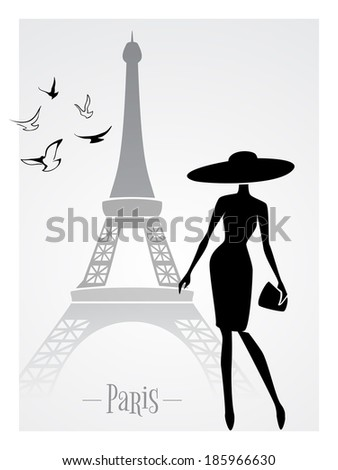 fashionable lady in front of